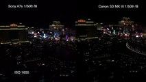 Sony A7s vs Canon 5D MK III side by side low light test