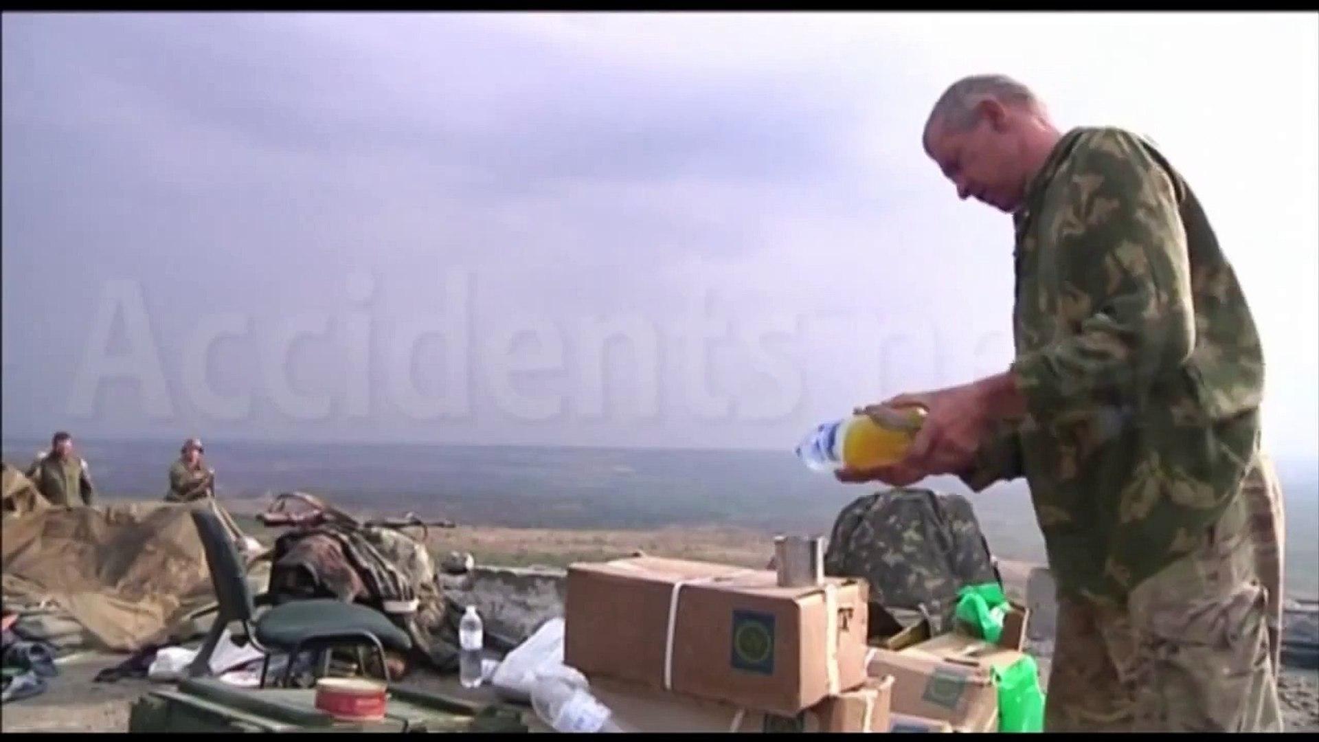 Там где были Скифи, Казаки и Золотая Орда  29 08 2014 Курган Саур Могила занят ополченцами