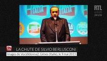 Silvio Berlusconi chute après un discours et accuse la gauche
