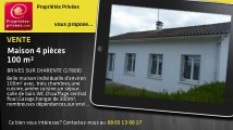 A vendre - maison - BRIVES SUR CHARENTE (17800) - 4 pièces - 100m²