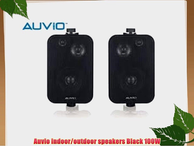 Auvio Indoor Outdoor Speakers Black 100w