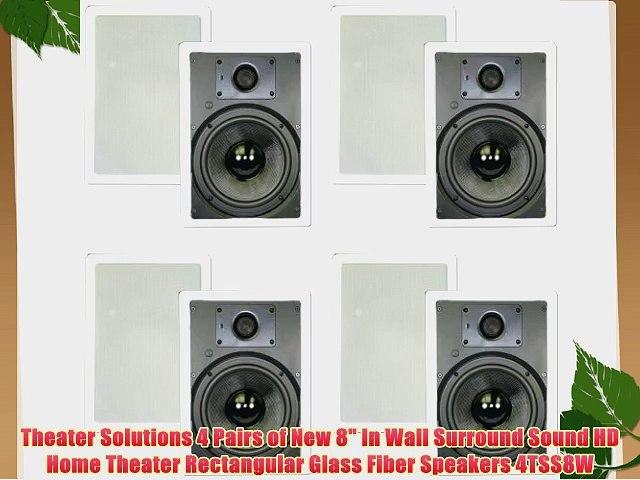 Theater Solutions CS6C in Ceiling 6.5 Speakers Surround Sound Home Theater 6 Pair Pack 6CS6C