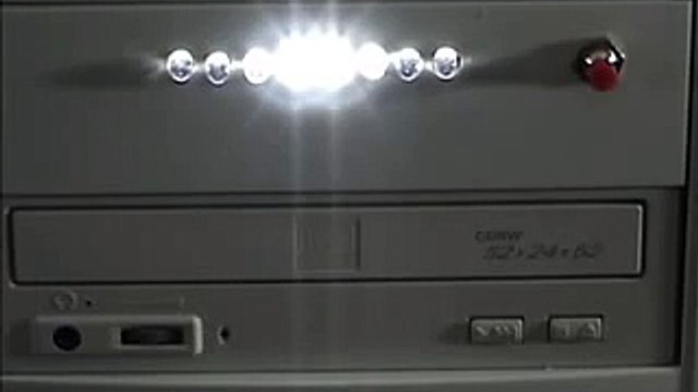LED Chaser (in computer case) - Featured on Hacked Gadgets