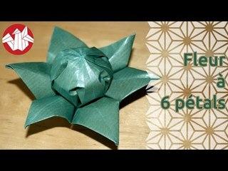 Origami - Fleur à six pétales - Six petals flower [Senbazuru]