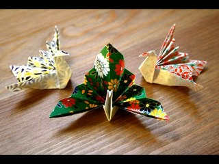 Origami - Paon - Peacock [Senbazuru]