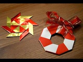 Origami - Décoration de Noël : L'étoile magique [Senbazuru]