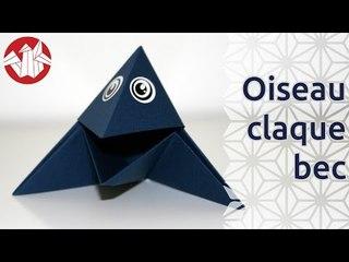 Origami - Oiseau claque-bec [Senbazuru]