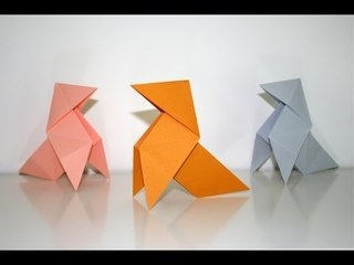 "Origami - Cocotte - Méthode ""base du moulin"" [Senbazuru]"