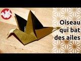 Origami - Oiseau qui bat des ailes - Flapping bird (HD) [Senbazuru]