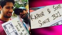 FIRST LOOK:'Kapoor And Sons' | Sidharth Malhotra | Fawad Khan