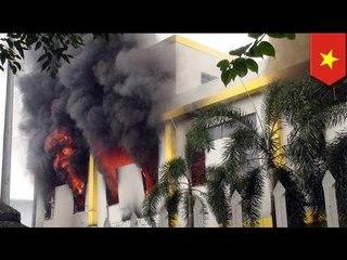 Fabricas extranjeras en Vietnam fueron incendiadas en violenta protesta en contra de China