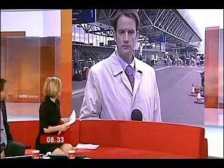 BBC News 24 Joanna Gosling skirt blooper