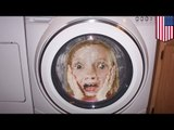 Trapped in a Texas washing machine: 5-year-old girl gets locked inside running machine