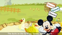 Micky Mouse Cartoon Animals On The Farm - Animal Sounds - Learn the Animal Sounds