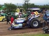 Mental Jet turbine powered tractor Great Eccleston Show 2008 pulls trailer