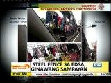 VIRAL: Steel fence sa EDSA ginawang sampayan
