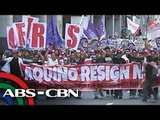 Students walk out of classes in protest vs PNoy