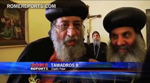 Pope Francis welcomes Coptic pope to mark an important anniversary