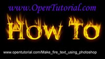 How to Make Fire Text in Photoshop 7 - video dailymotion