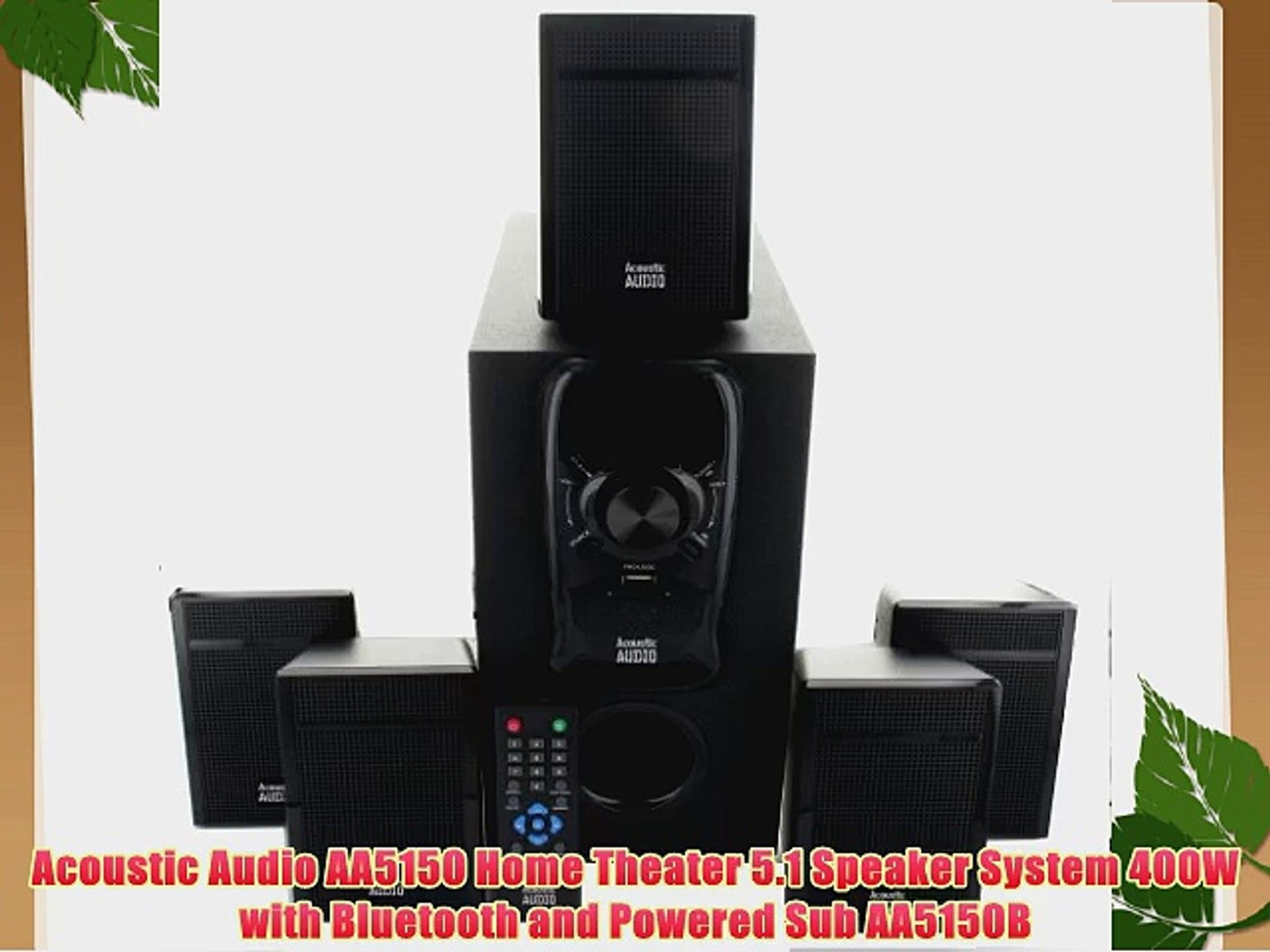 Acoustic Audio HT55 In Wall and In Ceiling Home Theater Surround 5 Speaker Set
