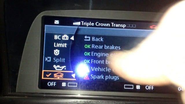 DIY BMW E65 E66 750i 750li Reset Vehicle Check On Idrive