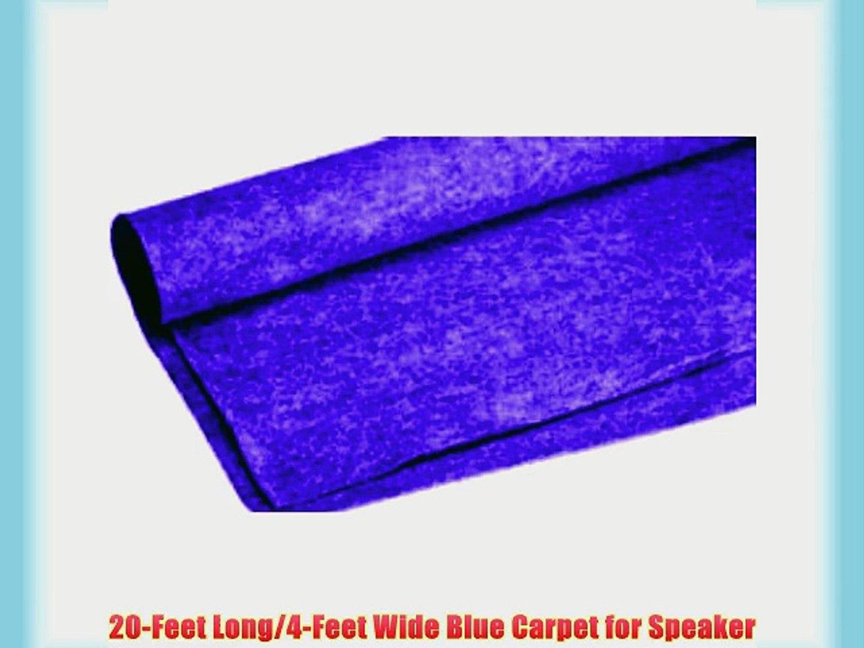 Absolute C20BL 20-Feet Long/4-Feet Wide Carpet for Speaker Sub Box RV Truck Car/Trunk Laner