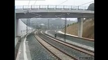Video no vilciena avārijā Santiago de Compostela.
