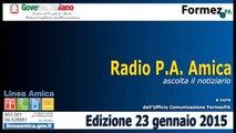 Radio PA Amica 23 gennaio 2015
