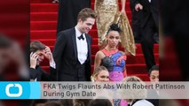 FKA Twigs Flaunts Abs With Robert Pattinson During Gym Date