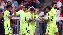 Gerard Piqué y Jordi Alba celebran la clasificación para la final de Berlín