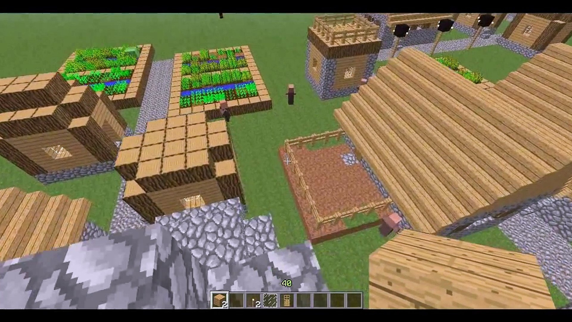 Minecraft 1 8 4 How to breed villagers and get easy emeralds!