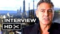 Tomorrowland Interview - George Clooney (2015) - Hugh Laurie, Britt Robertson Movie HD