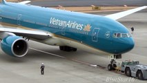 [New livery] Vietnam Airlines Boeing 777-200ER (VN-A143) pushback, taxiing and takeoff from NRT/RJAA