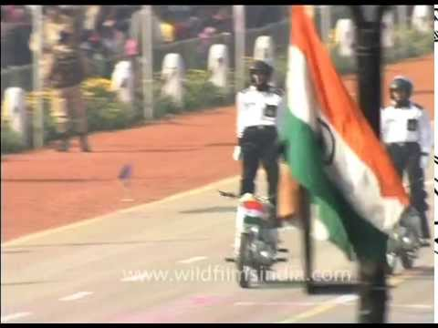 Daredevils: Extreme Motorcycle stunts by Indian Jawans on Republic Day
