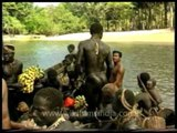 Jarawa tribes' first contact with the outside world?