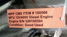 MTU 12V4000 M60 Marine Propulsion Engine