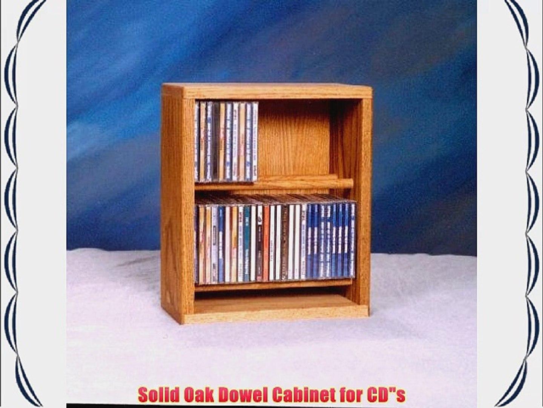 Cdracks Media Furniture Solid Oak Desktop or Shelf CD Cabinet Capacity 52 CDs Honey Finish