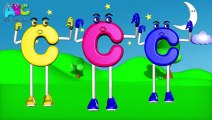 Phonics Letter C Song - ABC Song - ABC rhymes for children in 3D ABC Alphabet MCartoon Music