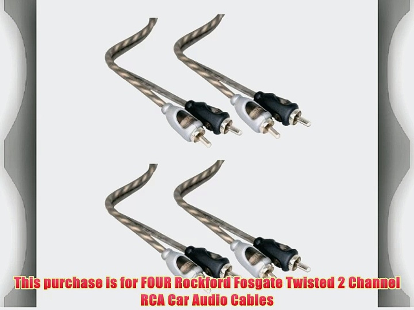 Cerwin Vega CRS3 Dual Twisted 2-Channel RCA Interconnect Cables 3 Feet New