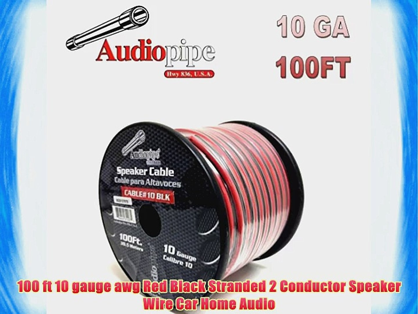 100ft In Wall 18 2 18 AWG Gauge 2 Conductor Speaker Wire Cable CL2