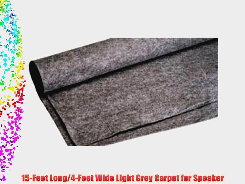 Absolute C15LGR 15-Feet Long/4-Feet Wide Light Grey Carpet for Speaker Sub Box Carpet rv Truck