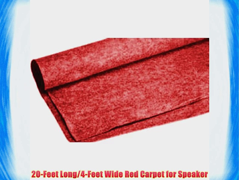 Absolute C20RD 20-Feet Long/4-Feet Wide Carpet for Speaker Sub Box RV Truck Car/Trunk Laner