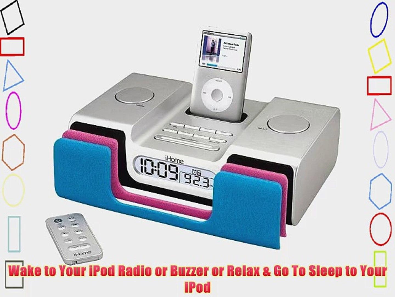 iHome iH55-SR Clock Radio for All Generations of iPod