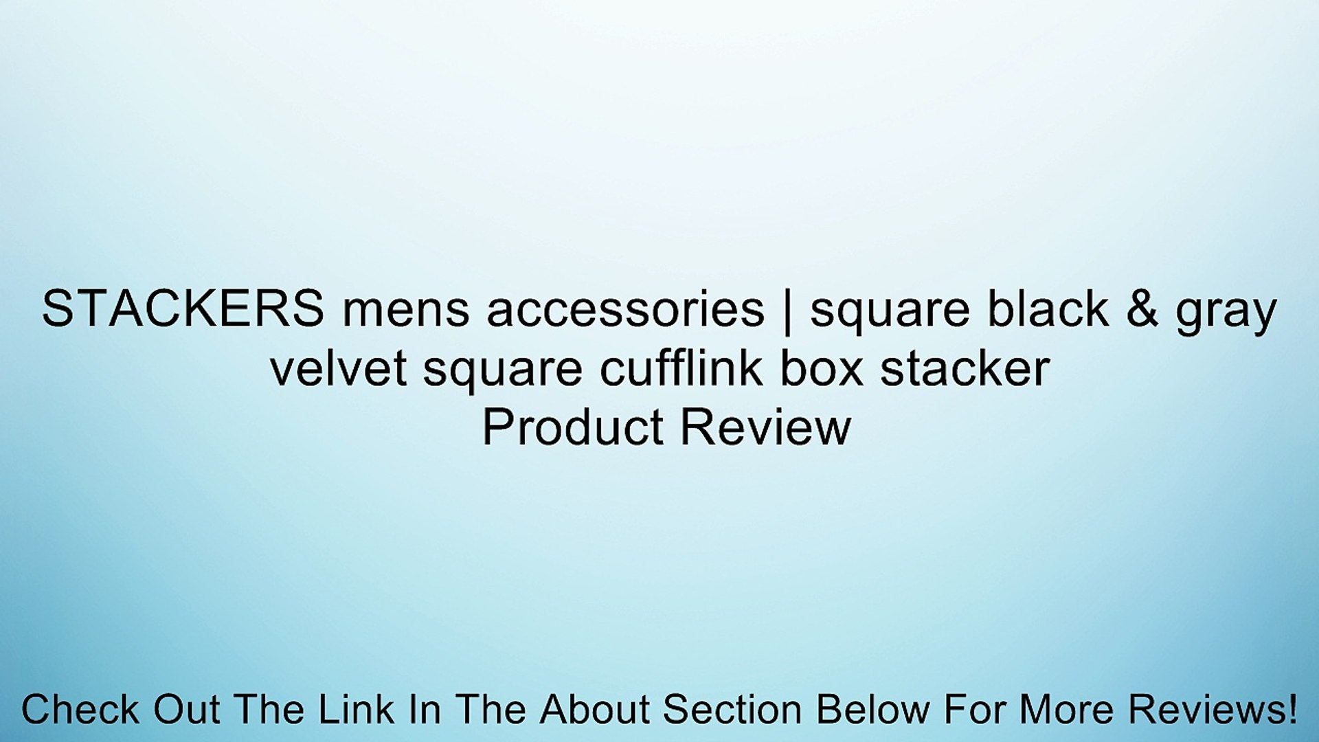 Stackers by LC Designs STACKERS Mens Executive Black Mini Cufflink STACKER with Grey Velvet Finish Lining