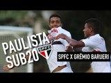 Paulista Sub 20 - São Paulo FC 2 x 1 Grêmio Barueri