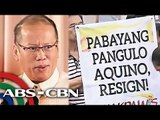 Protesters want Aquino to resign