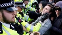 Anti-Cameron protesters scuffle with London police, 17 arrested