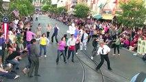 Disneyland Flash Mob Dance on Main Street U.S.A before Soundsational parade