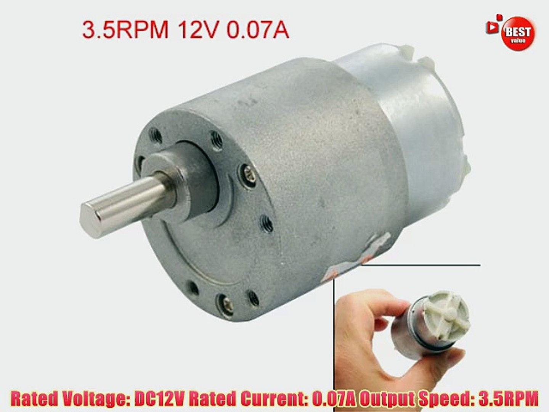 DC 12V 0 07A 3 5RPM High Torque Gear Box Electric Motor 37mm
