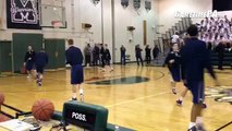 BOYS BASKETBALL: Here's Spring-Ford and Methacton warming up ahead of the PAC Liberty Division match